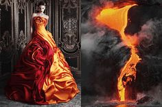 GIF of the month - Match #134 Rami Kadi Haute Couture Spring 2013 | Lava flowin Hawaiiphotographed by Johan Elzenga GIFed by What Do I Wear,more matcheshere