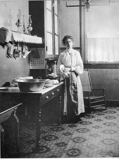The victorian woman's place was definately in the home, or in this case in the kitchen!