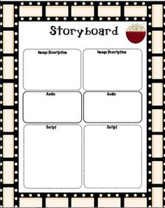 storyboard for a digital storytelling project