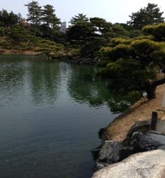 Étangs du jardin Ritsurin de Takamatsu, trésor National du Japon.