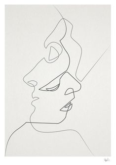Such beautiful art print by Quibe | poster, one line drawing