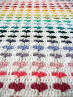 Crochet Hearts Blanket.