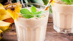 Check out this recipe! Coconut Tart, Banana Coconut, How To Make Smoothies, Coconut Smoothie, Recipe Ratings, Glass Of Milk, A Food, Food Processor Recipes, Smoking