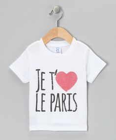 White 'Je T'Aime le Paris' Tee - Toddler & Girls #zulily #zulilyfinds