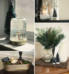 Baby, It's Cold Outside Baby Shower  -owls  -mercury glass  -mason jars with snow  -snowflake cookies  -cider  -hot chocolate bar