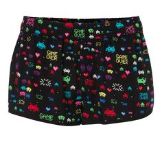 Shake & never too short ! Short noir Space Invaders