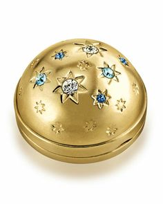 Limited Edition Twinkling Sky Tuberose Gardenia Solid Perfume Compact by Estee Lauder at Neiman Marcus. Blue Perfume, Avon Perfume, Solid Perfume, Perfume Bottles, Estee Lauder Perfume, Compact, Perfume Packaging, Pretty Makeup, Bath And Body Works