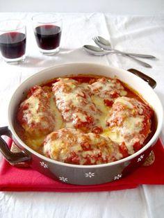 κοτοπουλο _στο φούρνο _με σάλτσα_ και _παρμεζάνα_