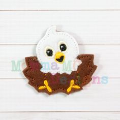 Eaglet Felt Feltie Embroidery Design by MommaMC on Etsy (Craft Supplies & Tools, Patterns & Tutorials, Sewing & Needlecraft, Embroidery, machine embroidery, felt, feltie, felty, pattern, eaglet, eagle, bald eagle)