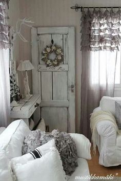 French Farmhouse Style - Love the old door.