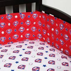 Philadelphia Phillies MLB Micro Fiber Crib Bumper #SportsCoverage #PhiladelphiaPhillies