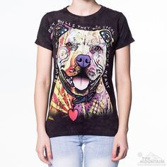 Beware Of Pit Bulls Ladies Tee