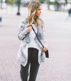 Cozy in sweats,
