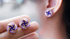 Seed Bead Jewelry, Bead Jewellery, Beaded Jewelry, Beaded Bracelets, Seed Beads, Diy Seed Bead Earrings, Diy Earrings Studs, Earrings Handmade, Handmade Jewelry