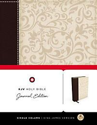 Journal Bible-KJV: Duo Tone Brown/Cream Cloth