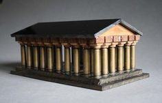 Vintage Bakelite and Bullet Parthenon Architectural Model