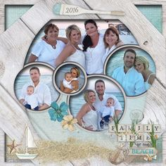 image 1 Cruise Scrapbook Pages, Beach Scrapbook Layouts, Scrapbook Images, Photo Album Scrapbooking, 12x12 Scrapbook, Scrapbook Templates, Wedding Scrapbook, Scrapbook Journal, Digital Scrapbooking