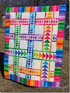 Really love Flying Geese quilts! I'd use more muted colors though. Maybe batiks!