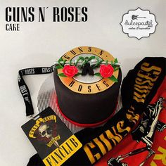 Torta Guns N´ Roses Cake - Cake by Giovanna Carrillo