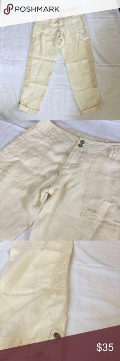 Hei Hei Anthropologie Lace Linen Pants Hei Hei Anthropologie Lace Linen Pants size 26. OPEN TO OFFERS!!! Anthropologie Pants