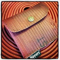 Purses of Fire Hose #recycling on www.hippers.nl