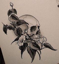 Эскизы тату с черепом • Часть 2