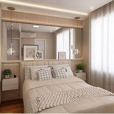 """1,943 curtidas, 27 comentários - Decor 4 Home - Katia Lopes (@_decor4home) no Instagram: """"Quarto de casal compacto e aconchegante by arquiteta Marília Zimmerman @homeluxo #interior…"""""""