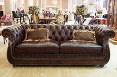 Image result for classic brown leather sofa