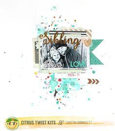 Christin aka Umenorskan scrapper: Citrus Twist Kits August layouts