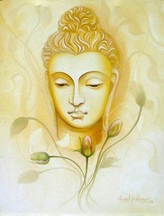 Wishing you a blessed Buddha Purnima Buddha Painting Canvas, Art Painting, Indian Art Paintings, Art Drawings, Buddha Art Painting, Buddha Image, Art, Buddhism Art, Buddha