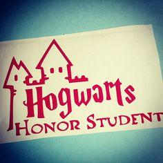 Hogwarts Honor Student Decal Vinyl Car Bumper Sticker