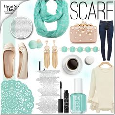 How To Wear Scarf! Outfit Idea 2017 - Fashion Trends Ready To Wear For Plus Size, Curvy Women Over 20, 30, 40, 50