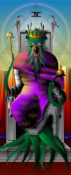 The Emperor from The Mutation Tarot by Mario Rosa