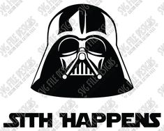 Darth Vader Sith Happens Cut File Set in SVG, EPS, DXF, JPEG, and PNG