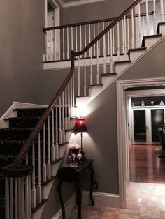Foyer With Sherwin Williams Dorian Gray We Bought This Color Today