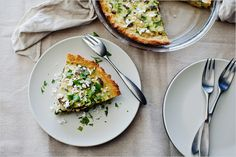 mushroom/poblano tart with cornmeal crust