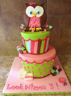 owl birthday ideas for girls | Owl Cake — Birthday Photos
