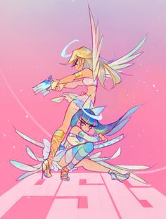Panty and stocking Cartoon Kunst, Anime Kunst, Cartoon Art, Manga Anime, Anime Art, Pretty Art, Cute Art, Panty And Stocking Anime, Film Animation Japonais