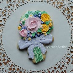 Rose Bouquet with Snowman Cutter   Cookie Connection