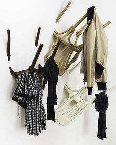WAIRS: clothes hanger out of old chairs by Nikos Tsoumanis | Please subscribe to my weekly newsletter at upcycledzine.com ! #upcycle
