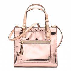 Pink metal:  metallic tote #bag I Coach