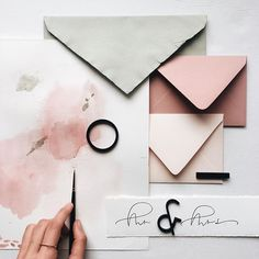 WEBSTA @ papelnco - Pretty colors, patterns and textures mood boards and gathering inspiration are one of my favorite things to dooo Stationery Paper, Stationery Design, Invitation Design, Stationery Business, Invitation Suite, Modern Wedding Invitations, Wedding Stationary, Wedding Paper, Wedding Cards