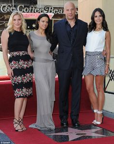 Famous friends: Vin Diesel with Katee Sackhoff, Michelle Rodriguez and Jordana Brewster