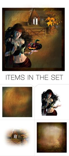 """""""Welcome to the Haunted Barn ...."""" by glitterlady4 ❤ liked on Polyvore featuring art"""