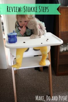 "Blogger says of all-new Stokke Steps high chair seating system: ""The Stokke Steps is a fantastic, well-thought out product that oozes quality; we will definitely be recommending it to friends looking for a child's chair that will last through the years."""