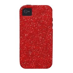 This design is available on other phone cases as well. Red Glitter Sparkle Graphic Art Pattern Design iPhone 4 Covers