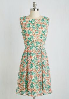 In All its Glory Dress. You feel your best in feminine ensembles - meaning, this floral dress is your happy place! #multi #modcloth