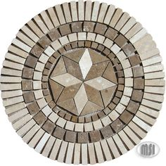 """36"""" natural stone medallion mosaic tiles by MSI Stone  I've been known to work in stained glass, so I think that working in stone would be lovely. #related"""
