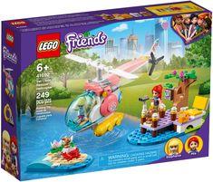 L'hélicoptère de sauvetage de la clinique vétérinaire LEGO Friends (41692) est parfait pour les passionnés d'animaux de compagnie qui pourront jouer pendant des heures à mettre en scène de formidables sauvetages de lapin. Le plein d'action Ce set sur le thème des animaux est livré avec un joli embarcadère sur le lac, une scène de pique-nique et une île en forme de cœur sur laquelle le lapin reste coincé. Building Sets For Kids, Building Toys, Helicopter Price, Lego Friends Sets, Lego System, Vet Clinics, Buy Lego, Lego News, Christmas Gifts For Kids