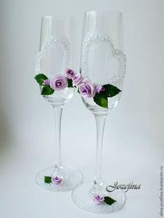 "Купить Свадебные бокалы ""Мечта"" - Бокалы, фужеры, бокалы для свадьбы, бокалы для молодоженов, бокалы на свадьбу"